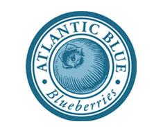 Atlantic blue blueberries logo