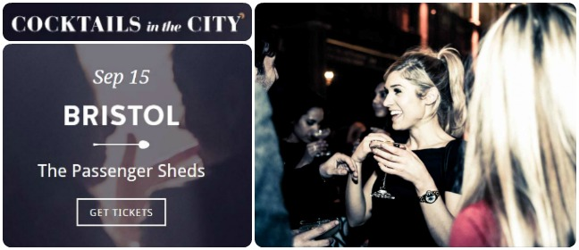 Cocktails in the city collage