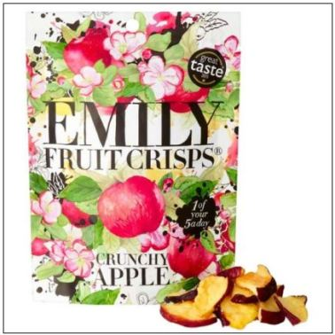 Emily fruit crisps logo