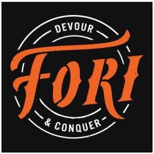 Fori logo - Savoury meat snack.
