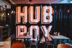 The interior of Hubbox Bristol