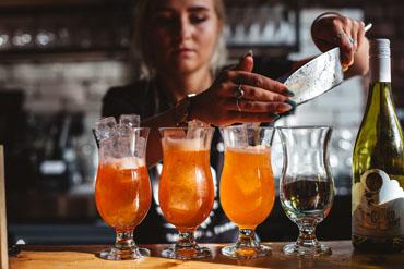 Drinks on the bar at Hubbox Bristol