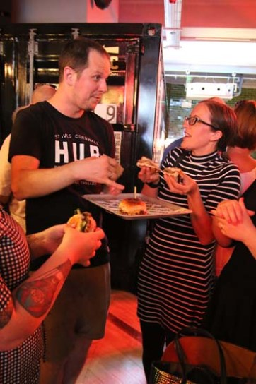 Bristol bites trying a burger at the Hubbox Bristol launch