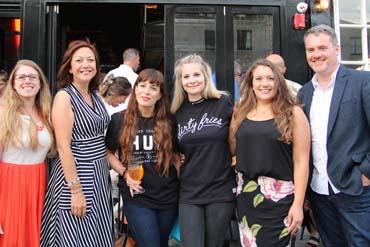 PamLloyd PR Team at the Hubbox restaurant launch.