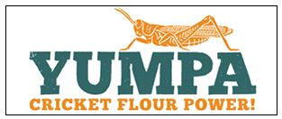 Yumpa logo - Cricket flour powder.