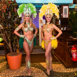 Carnival dancers at Las Iguanas - Bristol Harbourside